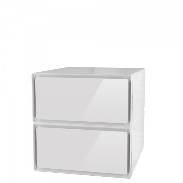 ... EasyBox Meuble De Rangement 2 Tiroirs Grand Volume Horizontal ...