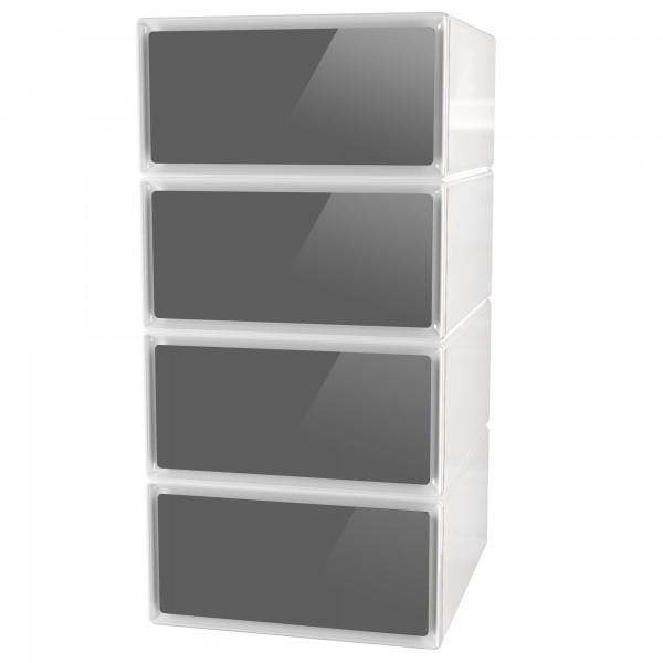 Tour rangement tiroirs cube meuble rangement cuisine for Meuble cuisine horizontal