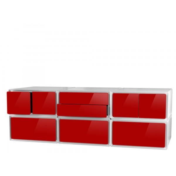 Meuble tv design meuble tv rangement tiroirs rangement for Meuble 6 tiroirs