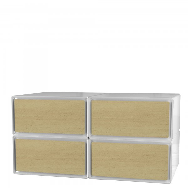 Meuble rangement contemporain meuble rangement tiroirs - Meuble a cases de rangement ...
