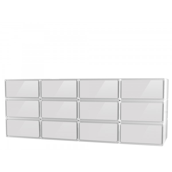 easybox meuble de rangement 12 tiroirs grand volume horizontal