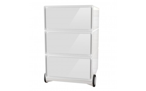 caisson 3 tiroirs sur roulettes. Black Bedroom Furniture Sets. Home Design Ideas