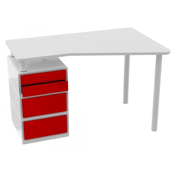 Bureau 4 tiroirs for Bureau 3 tiroirs biface